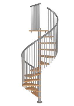 Schody Spiralne MONTRÉAL CLASSIC 5 biały/srebrny
