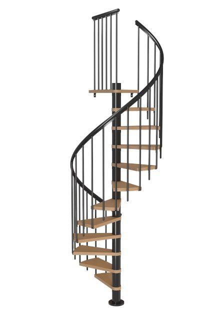 Schody Spiralne CALGARY III antracyt/antracyt bukowy