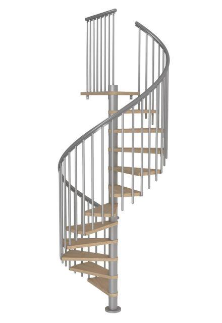 Schody Spiralne MONTRÉAL CLASSIC 4 biały/srebrny
